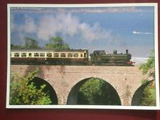 POSTCARD DEVON PAIGNTON - KINGSWEAR TRAIN - TORQUAY IN THE BACKGROUND