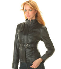 Ladies Nice and Good Quality Leather Jacket  with Buckle Size Large BFL20 125