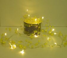 2M Lemon Bead Garland with 20 Warm White LED Lights Wedding/Christmas (L70L)