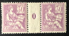 Timbre France, n°115, 30c violet, xx, TB mill 0, cote 820e.