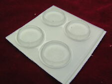 Hi-grade Clear Adhesive Feet Round 19.7mm x 3.5mm 4 pieces OM0663