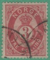 Norway 18 Very FINE Interesting Cancel ! 1872 Great Stamp !