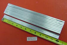 "10 pieces 1/4"" X 3/4"" ALUMINUM 6061 T6511 FLAT BAR 12"" long Solid .25 Mill Stock"