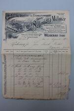 Schmidt & Melmer Verzinkerei  Weidenau (Sieg) Rechnung 1900