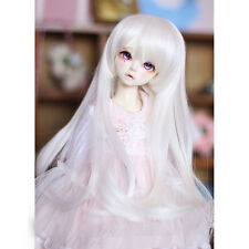 "[wamami]  Cute Fashion White Straight Wig For 1/3 SD DZ AOD DOD BJD Dollfie 8-9"""