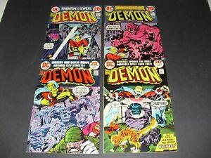 Lot of 4 The Demon 8 10 13 & 14 all mid grade! DC Kirby Fine F unrestored 2627
