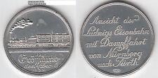 Ludwigs Eisenbahn Nürnberg Fürth Medaille 1979 unedel ca. 24,62 g ca. 42 mm