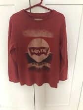 LEVI'S BOYS RED LONG SLEEVE TOP SIZE 8