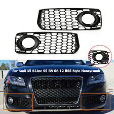 Fog Light Grille Cover Bezel For Audi A5 S-Line S5 B8 08-12 RS5 Style Honeycomb
