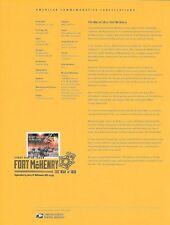 #1436 (49c) Forever War of 1812: Fort McHenry #4921 Souvenir Page