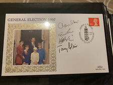 More details for * a one off* 1997 signed by tony cherie blair and family gb fdc, election win.
