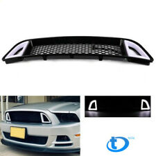 For 2013-2014 Ford Mustang Non-Shelby Front Bumper Upper LED Grille Honbeycomb