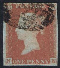 1841 1d Red Pl 87 NK 4m Fine Used Misplaced Tilted K Cat. £30.00