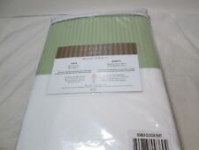 NEW Textilier Sorrento Stripe Double Bedskirt ~  410 TC ~ Celedon Green NIP