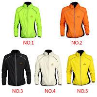 Men Women Windproof Jacket Cycling Running Wind Rain Coat Windbreaker Waterproof