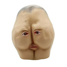 Latex Butt Head Mask Adult Ass Halloween Cosplay Party Costume Accessory Prop