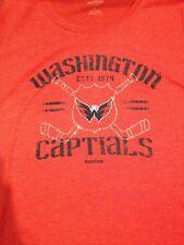 NWT Reebok NHL LADIES WASHINGTON CAPITALS HOCKEY RED CREW NECK TEE SIZE LARGE