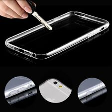 0.3mm Ultra Thin Slim Crystal Clear Soft TPU Skin Case Cover For iPhone Samsung