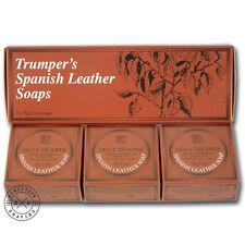Geo F Trumper Spanish Leather Hand Soap Box of 3 x 75 g (w077038)