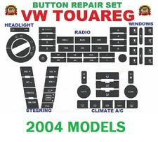 2004-2009 VW TOUAREG BUTTON RADIO A/C POWER WINDOW HEADLIGHT STEERING DECAL SET