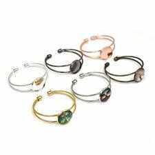 5pcs Adjustable Bangle Base Bracelet Blanks Setting Cabochon Cameo DIY Jewelry