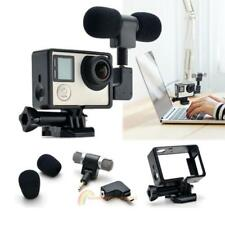 Side Open External Skeleton Housing Case+Microphone+Adapter for GoPro Hero 3 3+4