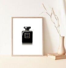 Coco Chanel Negro Noir Cartel/impresión Botella De Perfume