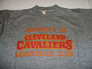 True Vintage Mid 1970's Property of Cleveland Cavaliers Gray Small T-Shirt
