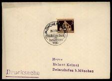 """3. REICH BRIEF 1936 SStpl. """"MÜNCHEN - DAS BRAUNE BAND"""" h2050"""