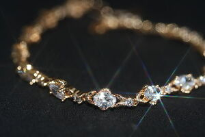 Created Oval & Brilliant Diamond Bracelet 19.5cm/ 7.67inches