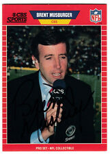Brent Musburger Sportscaster Announcer 1989 Pro Set RARE SIGNED CARD AUTOGRAPHED