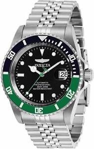 Invicta Men's Pro Diver Automatic 3 Hand Black Dial Stainless Steel Watch 29177