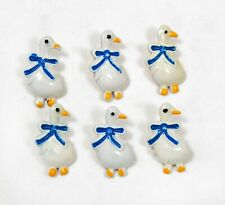 6 Vintage Super Cute Duck JHB International Buttons Hand-Painted Novelty Animal