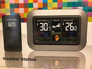 WEATHER STATION TEMPERATURES CLOCK ALARM USB CALENDAR ATMOSPHERIC MOON PHASE ETC