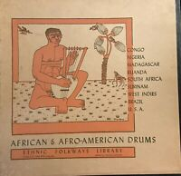 AFRICAN & AFRO-AMERICAN DRUMS Original First Press 1954 Excellent