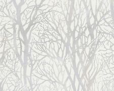 Tree Branches Wallpaper White & Silver - as Creation 300941 Forest Metallic