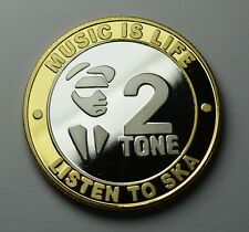 More details for ska music 2 tone dual metal silver & 24ct gold commemorative. reggae/life/beat