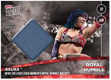 2018 Topps Now WWE WWF Royal Rumble Relic #'D to /25 ASUKA - Rhonda Rousey DEBUT