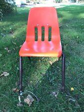 """Vintage Virco School Chair 14"""" Seat Height Orange"""