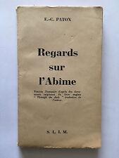 REGARDS SUR L'ABIME PATON