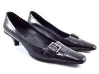 PRADA Black Leather, Low Heels Pumps, Women's Shoes Size US 5.5 / EU 35.5