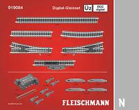 Fleischmann N 919084 Rail Professionnel DCC Digital-Gleisset Ü2 - Neuf +