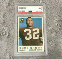 1959 Jim Brown #10 Topps Card PSA Graded Mint 9 Cleveland Browns Jimmy Vintage
