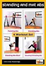 Pilates Core DVD Barlates Body Blitz Standing and Mat Abs Bundle - 4 Workouts