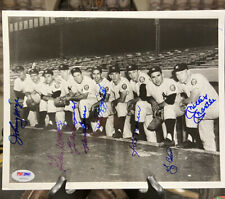 Mickey Mantle, Berra, Rizzuto, Mize Etc Signed Photo Yankees Psa Dna HOF