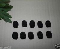 10X Black Mic foam covers Windscreen For thin Headset Microphone (2-3mm)