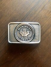 Montreal City Quebec Canada Maple Leaf MTL 514 Unisex Men's Belt Buckle