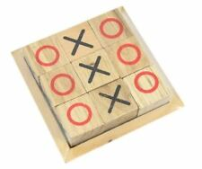 Traditional Wooden Tic Tac Toe (Noughts & Crosses) Game
