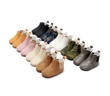 Newborn Baby Girl Boy Shoes Ankle Chelsea Boots Toddler Infant Booties Prewalker