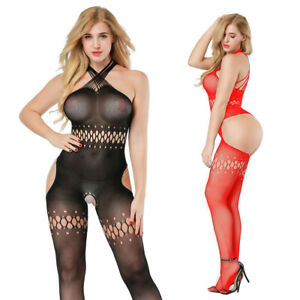 Women's Sexy lace Lingerie Fishnet Body stockings Bodysuit Underwear 8511